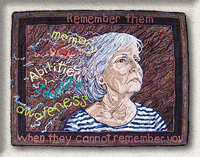 Click to see a larger image of this Alzheimers rug