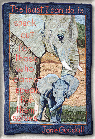 Click to see a larger image of this Elephant rug