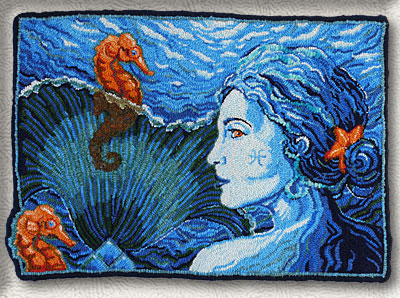 Click to see a larger image of this Mermaiden rug