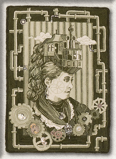 Click to see a larger image of this Steampunk rug